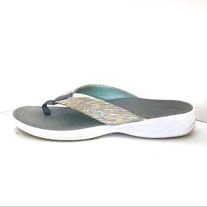 Vionic (8M) Women's Gray Strap Sandal Flip Flops